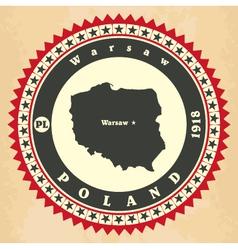 Vintage label-sticker cards of poland vector