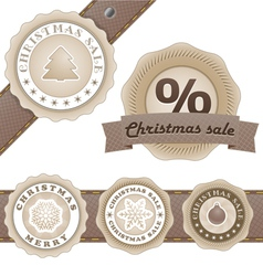 Winter vintage discount labels set vector image vector image