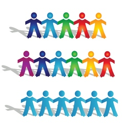 Teamwork groups of people vector