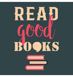 Read good books vector