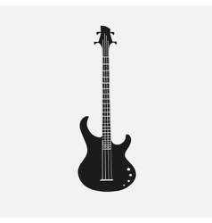 Silhouet of bass guitar eps 10 vector