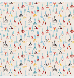 scissors seamless pattern vector image