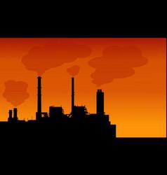 pollution industry make bad environment landscape vector image
