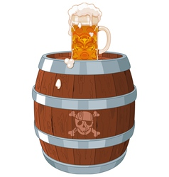 Pirate barrel vector