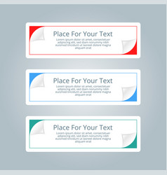 A set of simple colorful horizontal banners with vector