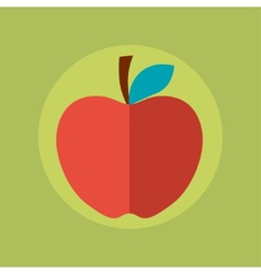Apple idea concept in flat style vector