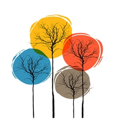 Abstract tree seasons concept vector