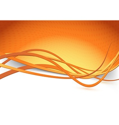 Orange swoosh speed wave background dot vector