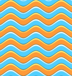 Abstract colorful waves seamless pattern vector