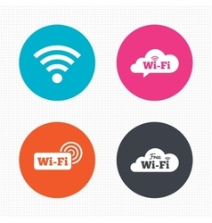 Wifi wireless network icons wi-fi speech bubble vector