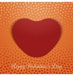 Valentines day realistic textile heart card vector