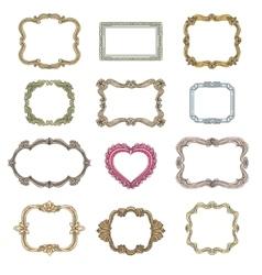 Vintage decorative frames vector image