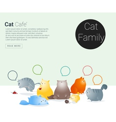 Animal banner with cat story for web design vector