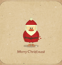 Santa claus on vintage background vector