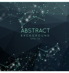 Abstract polygonal backgroun low poly design vector
