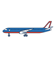 airplane side view travel passenger commercial vector image vector image