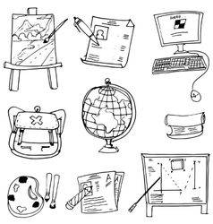Bag paper paint element school doodles vector