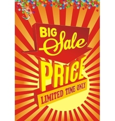 Big sale Banner Sale and discounts vector image vector image