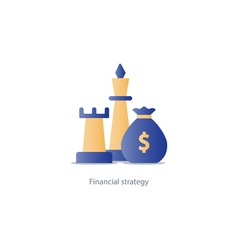 Business strategy icon budget management vector image vector image