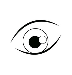 Cartoon eye iris vision look icon line vector