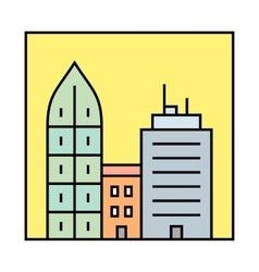 Cityscape icon vector image