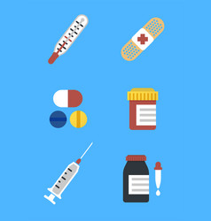 colorful medical icons for web and mobile vector image