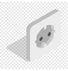 electric white socket isometric icon vector image