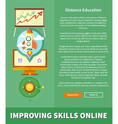Improving Skills Online Concept vector image