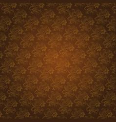 Korean traditional dark brown flower pattern vector