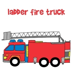 Ladder fire truck vector