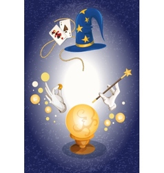 Magician colored background vector