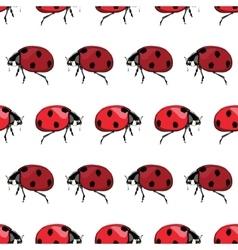 Red black ladybird stripes seamless pattern vector