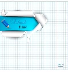 School Copyspace Paper vector image