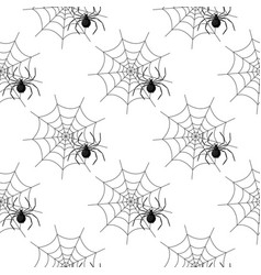 seamless pattern with spider web on halloween vector image vector image