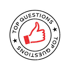 top questions rubber stamp vector image