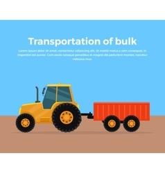 Transportation of bulk banner design vector