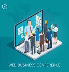 Web conference banner vector