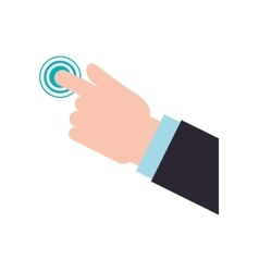 Cursor hand pointer touch technology icon vector