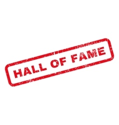 Hall of fame text rubber stamp vector
