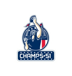 Football Champs 51 New England Retro vector image