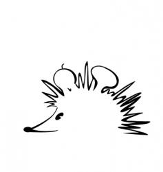 Hedgehog logo vector