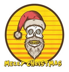 Skull santa christmas edition vector