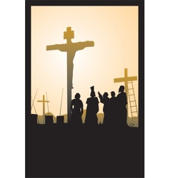 crucifixion vector image