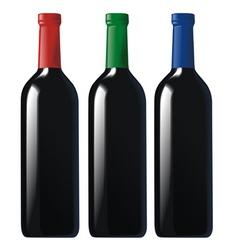 bottles black vector image