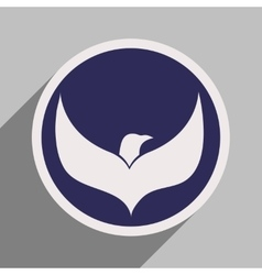 Logo flying eagle vector