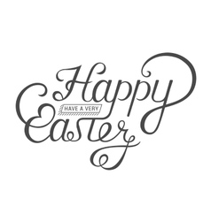 Lettering for greeting cards happy easter vector