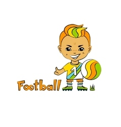 Cartoon boy football-player vector