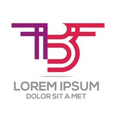 alphabet b letter elegant vector image