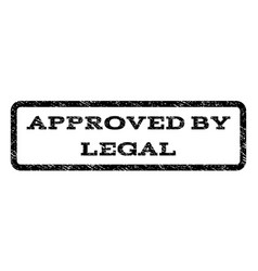Approved by legal watermark stamp vector