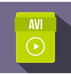 Avi file icon flat style vector